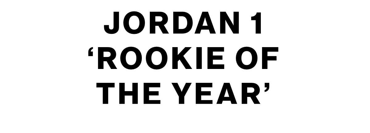 JORDAN 1 'ROOKIE OF THE YEAR'