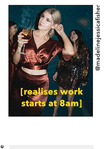Realises work starts at 8am
