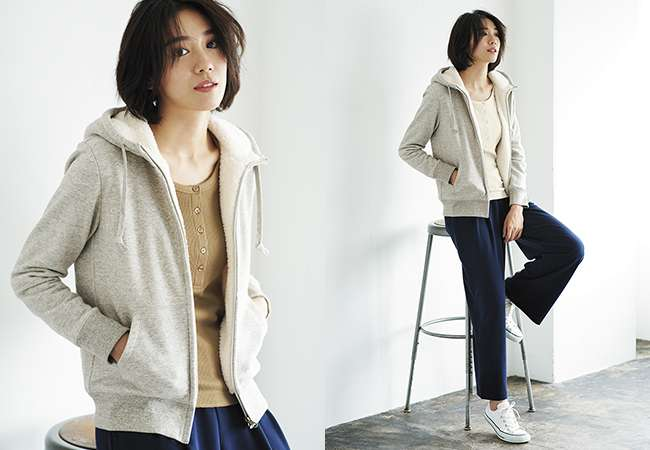 Women's Pile Lined Sweat Hoodie at $39.90
