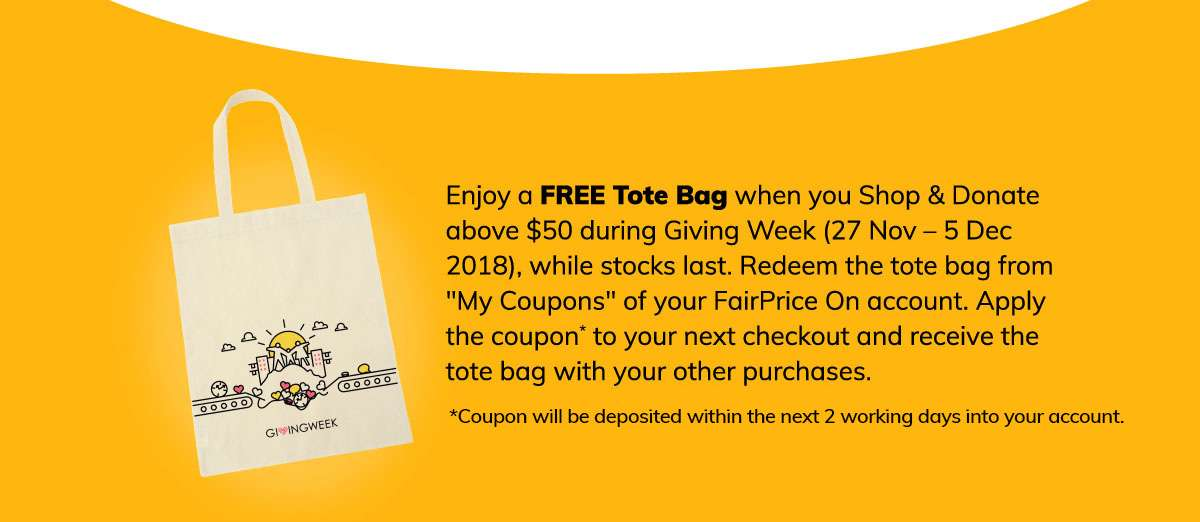 Free Tote Bag When You Shop and Donate