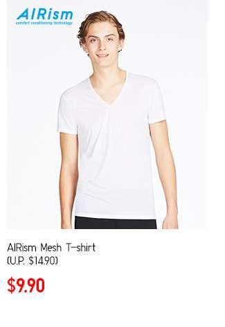 Men's AIRism Mesh T-shirt at $9.90