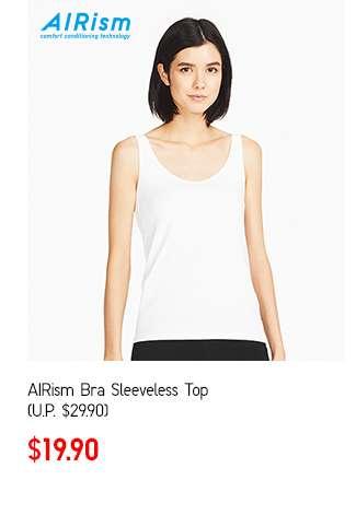 Women's AIRism Bra Sleeveless Top at $19.90
