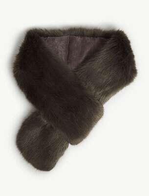 Faux-fur loop scarf