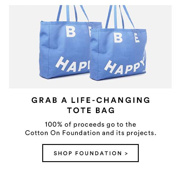 Grab A Life-Changing Tote Bag - SHOP FOUNDATION
