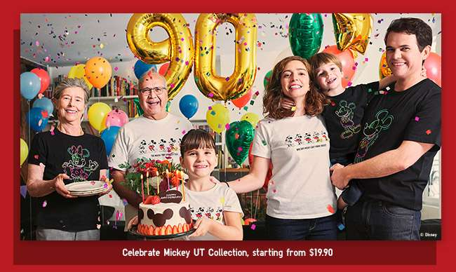 Celebrate Mickey UT Collection, starting from $19.90