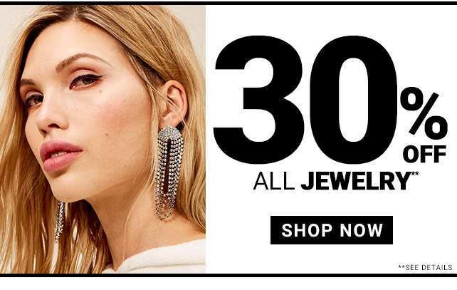 30% Off All Jewelry!