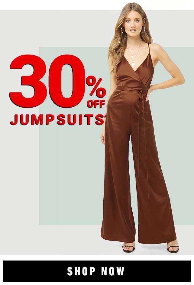 30% Off Jumpsuits!