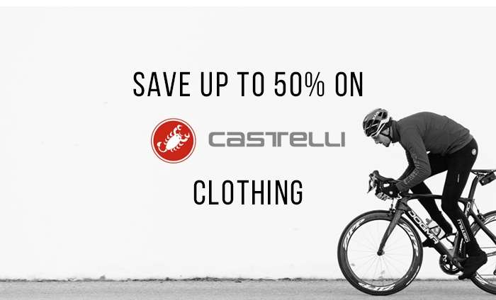 Save up to 50% on Castelli Clothing
