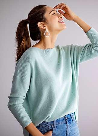 Women's Cotton Cashmere Sweater