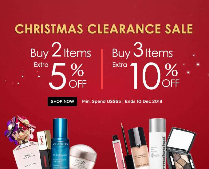 Christmas Clearance Sale! Any 2 Items = Extra 5% Off | Any 3 Items or More = Extra 10% Off! Ends 10 Dec 2017