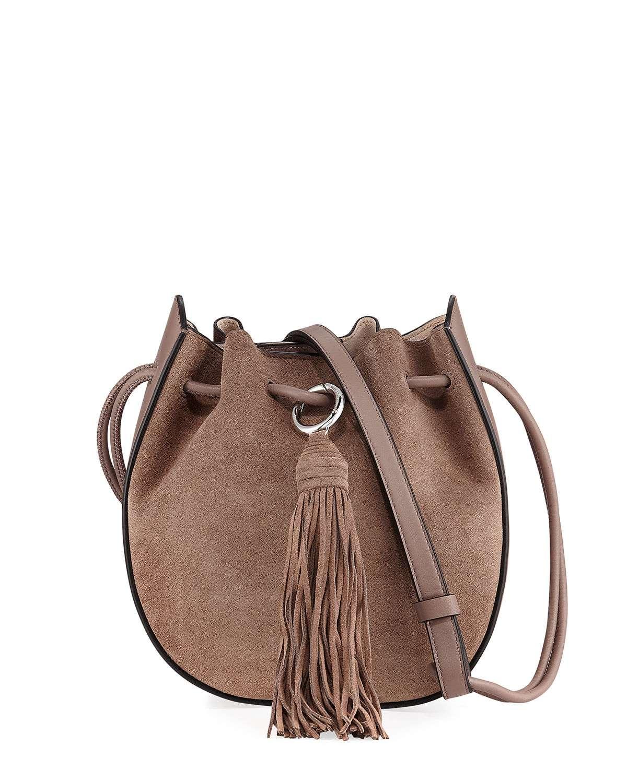 Lulu Suede Tassel Crossbody Bag