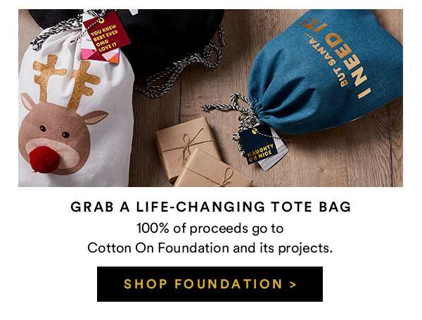 Grab A Life-Changing Tote Bag   SHOP FOUNDATION