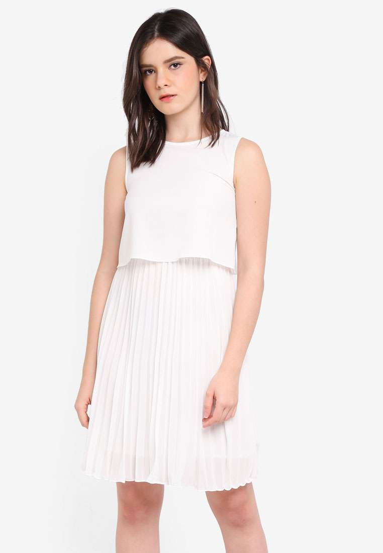 Pleated Bottom Dress