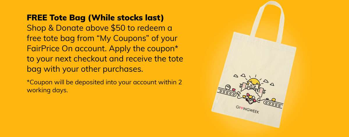 Free tote bag with donations above $50