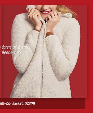 Women's Fluffy Yarn Fleece Jacket