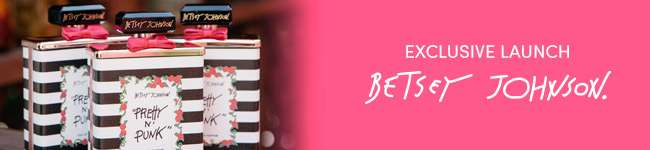 Exclusive launch Betsey Johnson. View Collection