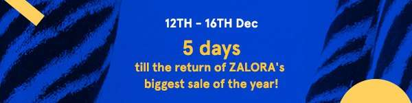 Five Days till the return of ZALORA's biggest sale of the year!
