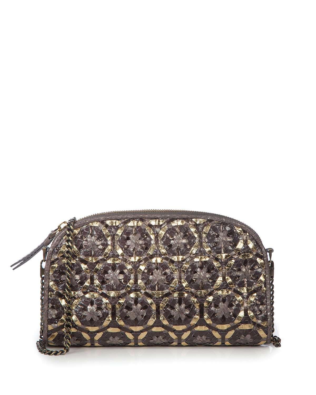 Gilda Woven Embellished Shoulder Bag