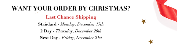 Last Chance Shipping for christmas