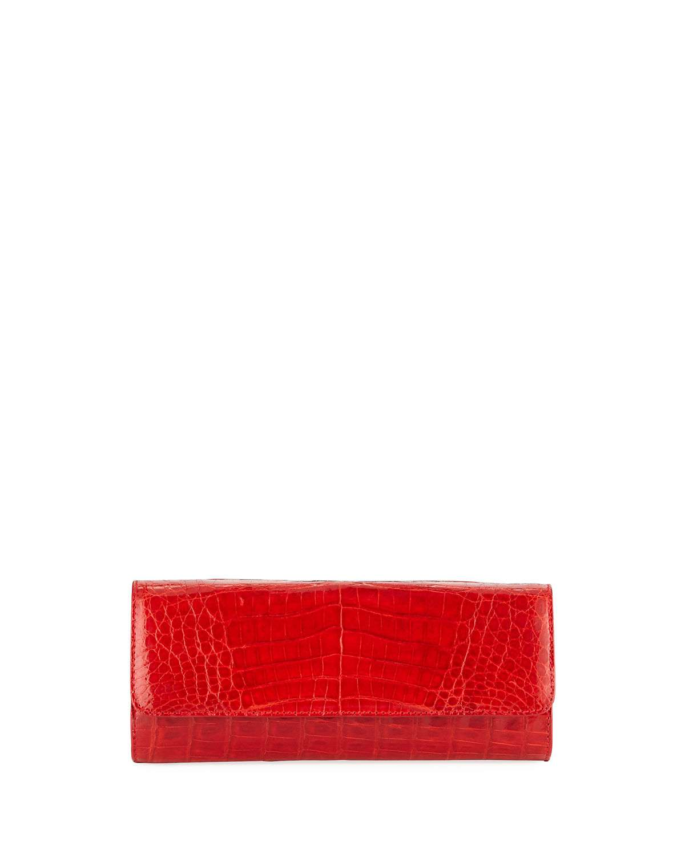 Kate Cayman Crocodile Clutch Bag