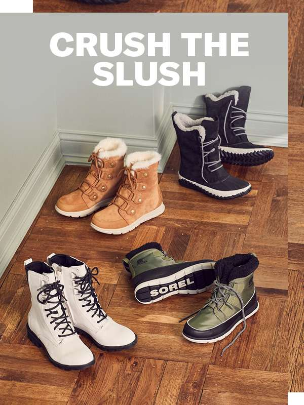 Wintry weather is snow match for the latest high-style, high-function boots from Sorel.