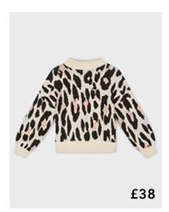 PETITE Multi Coloured Animal Print Jumper