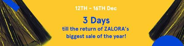 Three Days till the return of ZALORA's biggest sale of the year!