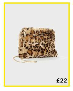 Leopard Faux Fur Cross Body Bag