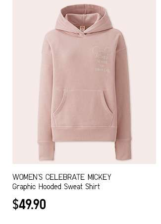 Women's CELEBRATE MICKEY Graphic Hooded Sweat Shirt at $49.90