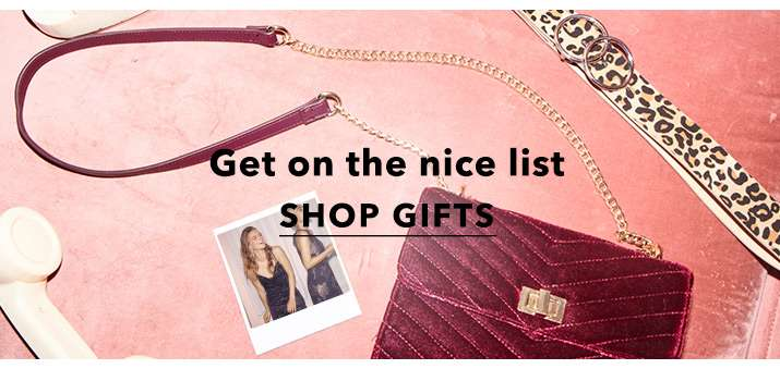 Get on the nice list - Shop gifts