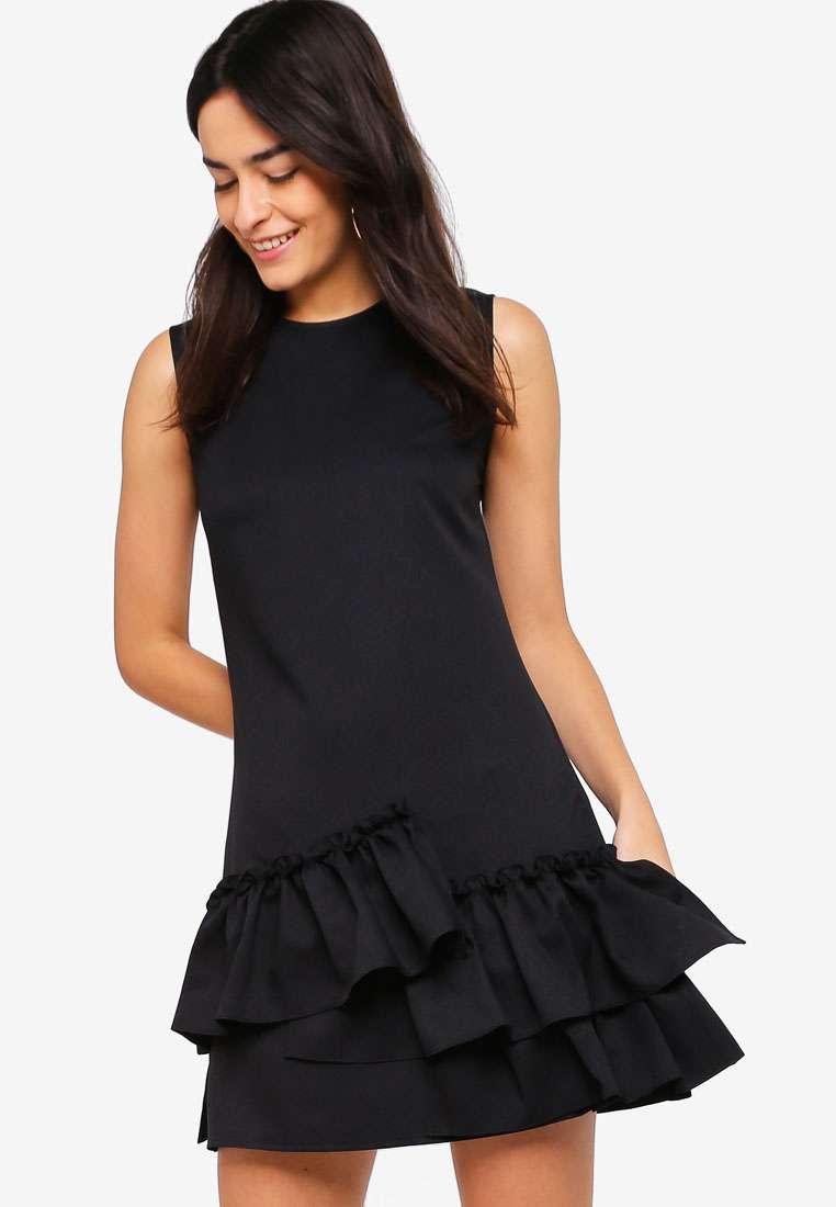 Ruffle Hem A-Line Dress