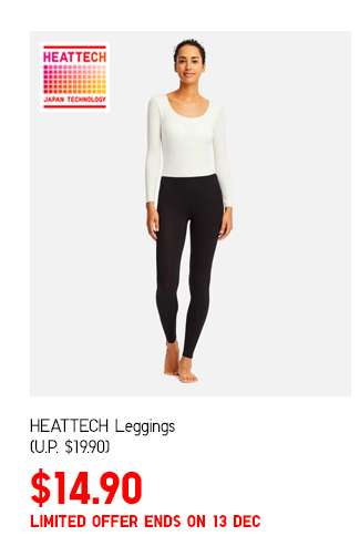 Women's HEATTECH Leggings at $14.90