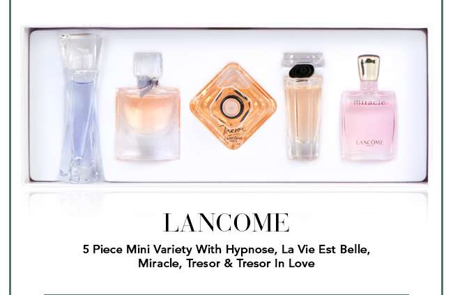 Lancome 5 Piece Mini Variety With Hypnose, La Vie Est Belle, Miracle, Tresor & Tresor In Love