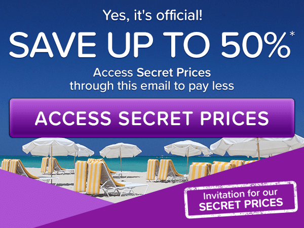 Yes, it's official! Save up to 50%*