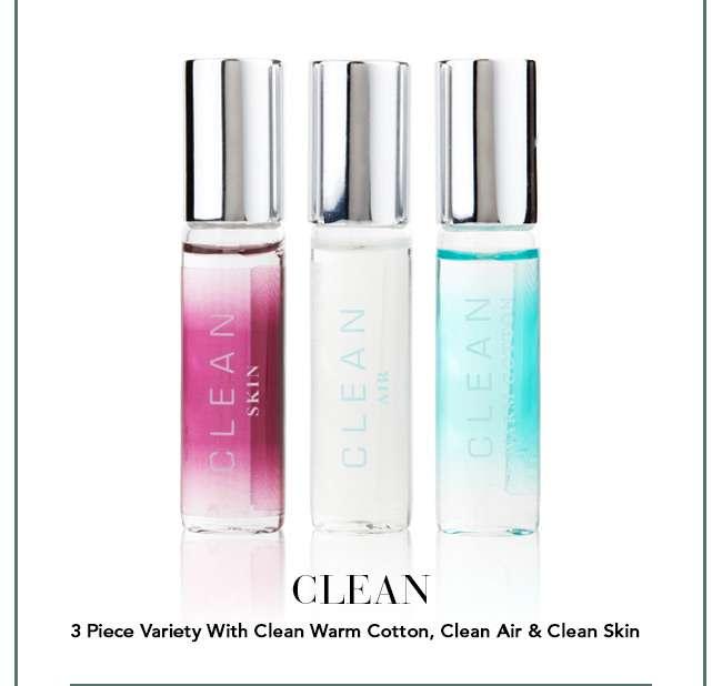 Clean 3 Piece Variety With Clean Warm Cotton, Clean Air & Clean Skin