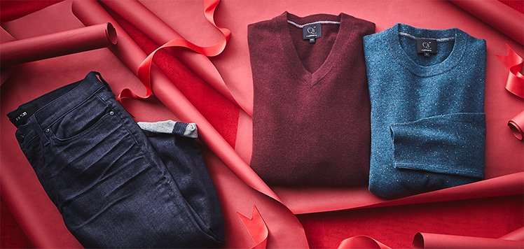 Up to 70% Off Men's Jeans & Sweaters