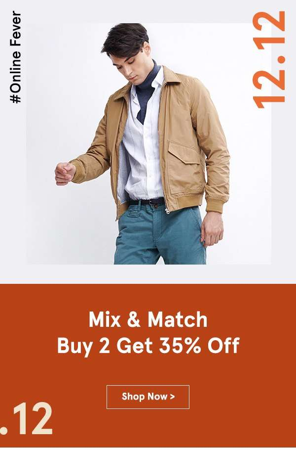 12.12 SALES: Mix & Match Buy 2 Get 35% Off