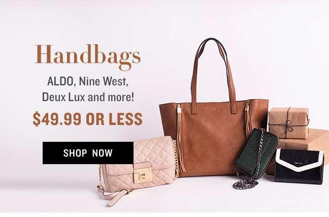 Handbags $49.99 or Less