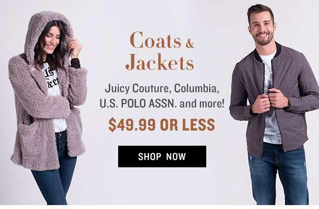 Coats & Jackets $49.99 or Less
