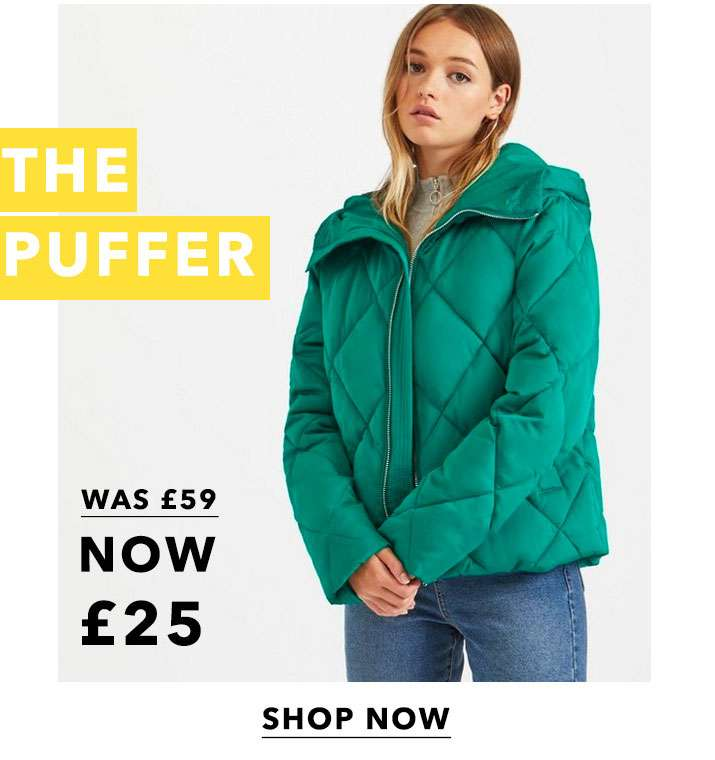 Green Diamond Quilted Puffer Coat