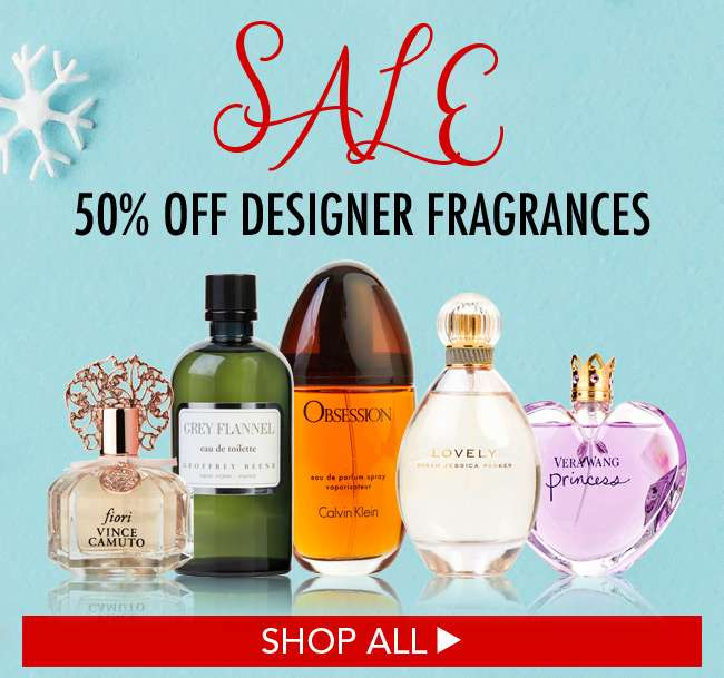 50% off designer fragrances