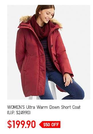 Women's Ultra Warm Down Short Coat at $199.90
