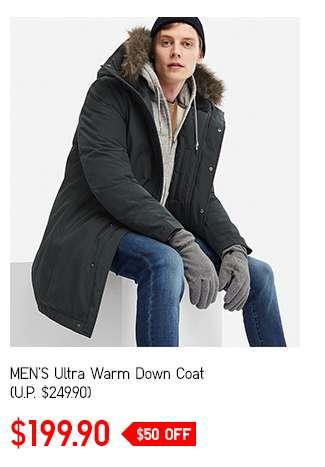 Men's Ultra Warm Down Coat at $199.90