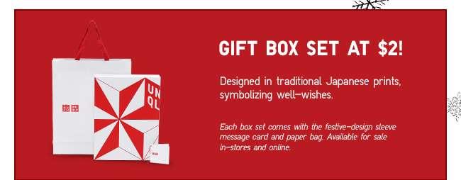 Gift Box Set at $2