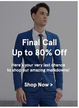 Final Call Up to 80% Off!