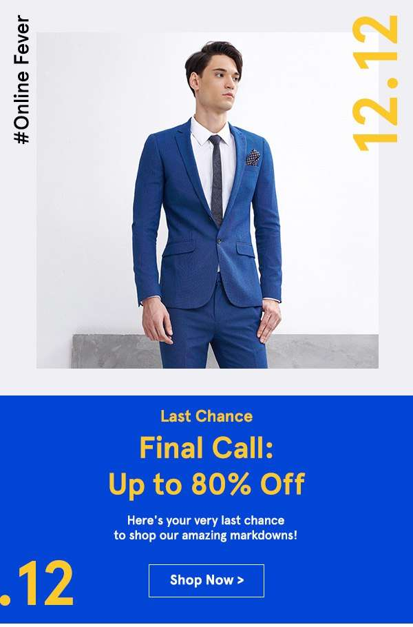 12.12 Final Call: Up to 80% Off!
