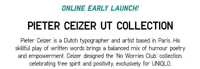 Peiter Ceizer UT Collection | Exclusive 'No Worries Club' Design