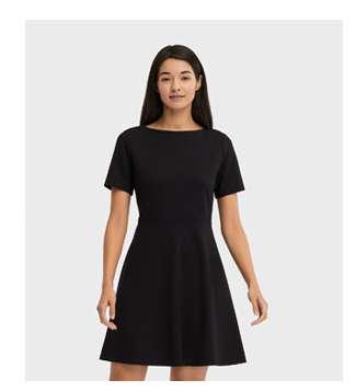 Women's Ponte Short Sleeve Dress at $49.90