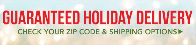 Guaranteed Holiday Delivery. Check your zip code & Shipping options