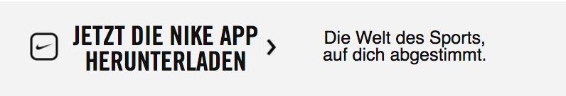 Jetzt die Nike App herunterladen. Die Welt des Sports, auf dich abgestimmt.
